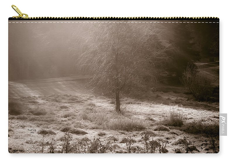Sun Carry-all Pouch featuring the photograph Sunny Frosty Douglassville by Trish Tritz