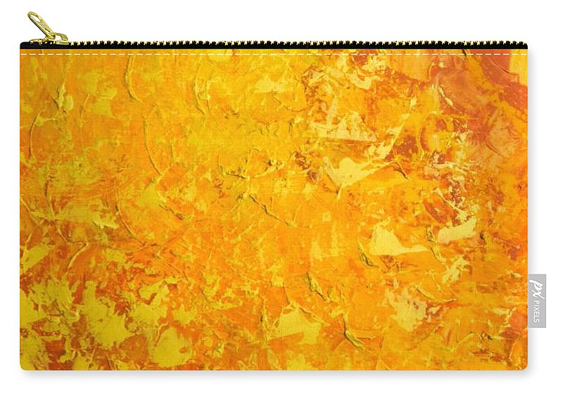 Sun Carry-all Pouch featuring the painting Sunny by Linda Bailey