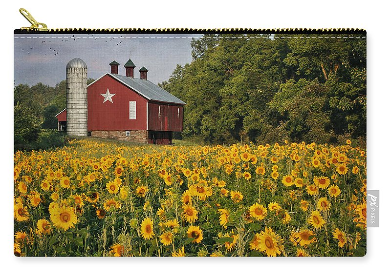 Barn Carry-all Pouch featuring the photograph Sunny Morning by Lori Deiter