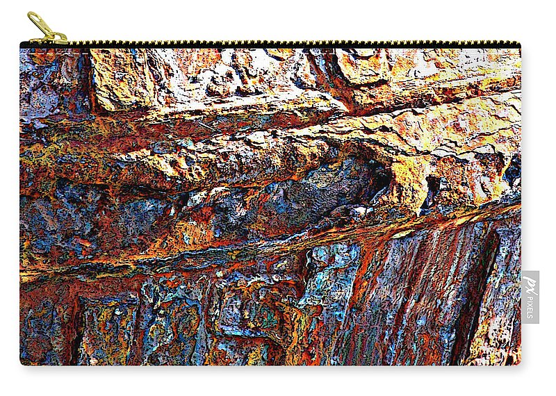 Ship Hull Carry-all Pouch featuring the photograph Sunny Side Up - Digital Art by Carol Groenen