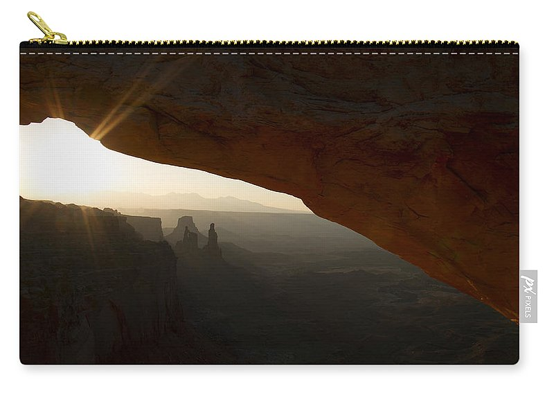 Sunrise Carry-all Pouch featuring the photograph Sunrays by Debby Richards