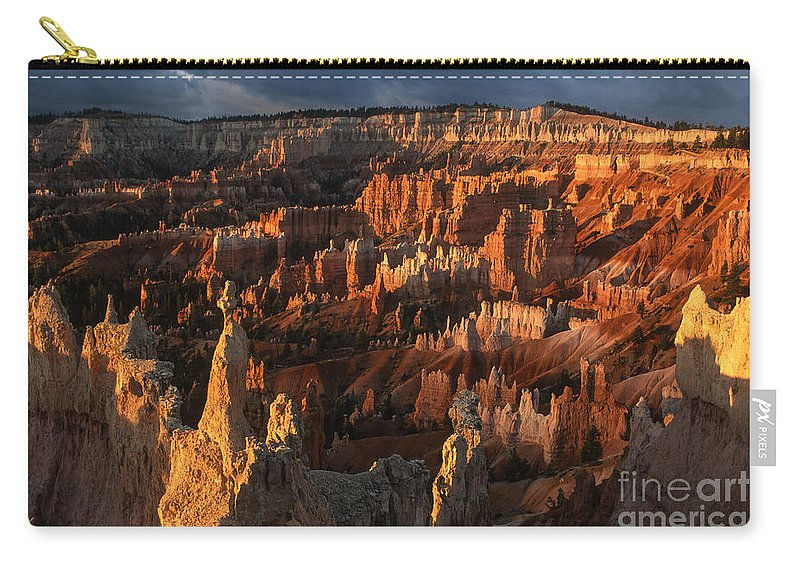 Bryce Canyon Carry-all Pouch featuring the photograph Sunrise At Bryce Canyon by Sandra Bronstein