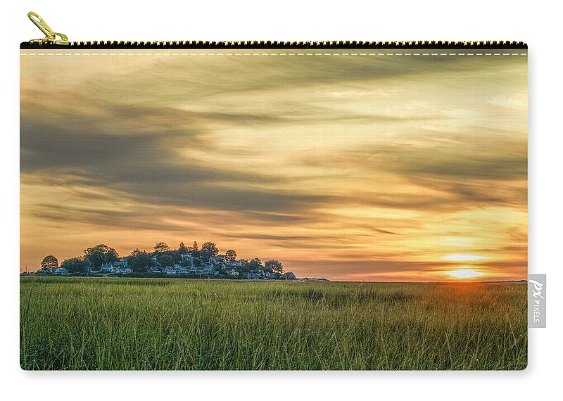 Sunrise Carry-all Pouch featuring the photograph Sunrise At Little Neck by David Stone