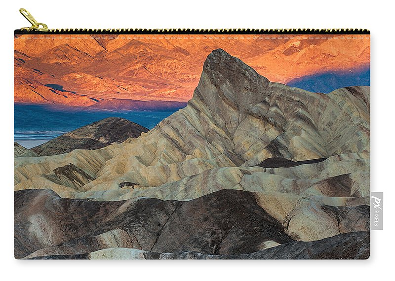 Sunrise At Manly Beacon Carry-all Pouch featuring the photograph Sunrise At Manly Beacon by George Buxbaum