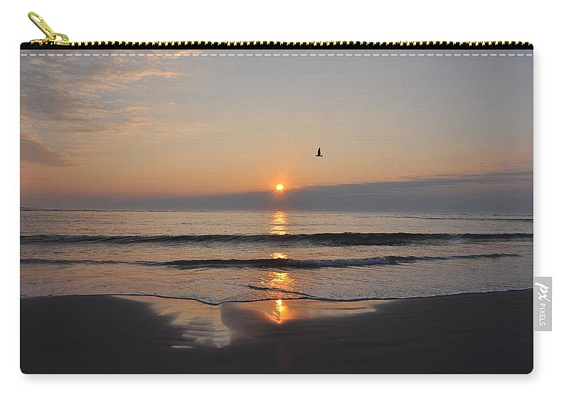 Sunrise.sun Carry-all Pouch featuring the photograph Sunrise by Bill Cannon