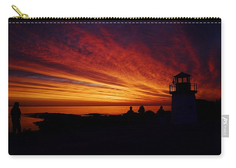 Sunrise Display Carry-all Pouch featuring the photograph Sunrise Display by Joy Bradley
