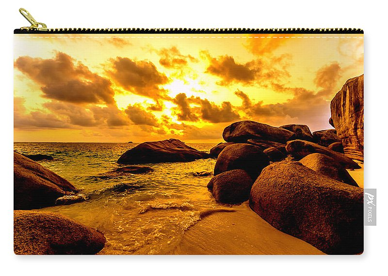 Indonesia Carry-all Pouch featuring the photograph Sunrise In Bintan 2 by Jijo George