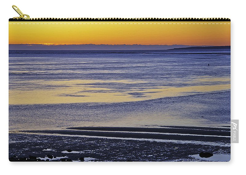 Sunrise Carry-all Pouch featuring the photograph Sunrise Ipswich Bay by David Stone