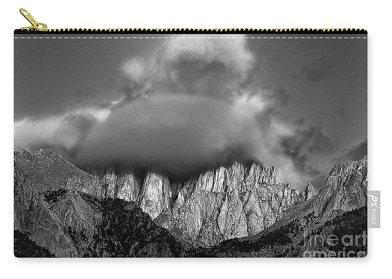 North America Carry-all Pouch featuring the photograph Sunrise On Mount Whitney Eastern Sierras California by Dave Welling