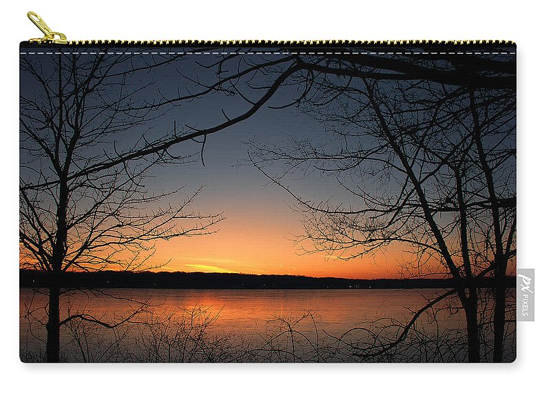 Lake Carry-all Pouch featuring the photograph Sunrise On The Lake by Scott Wood