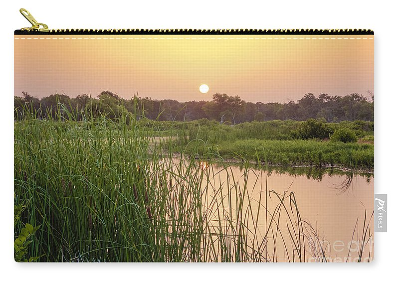 Cutts Nature Photography Carry-all Pouch featuring the photograph Sunrise Over The Marsh by David Cutts
