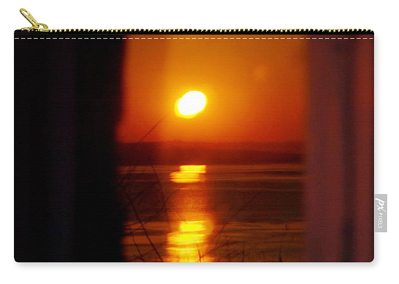 Sunrise Carry-all Pouch featuring the photograph Sunrise Refection by Tracy Winter