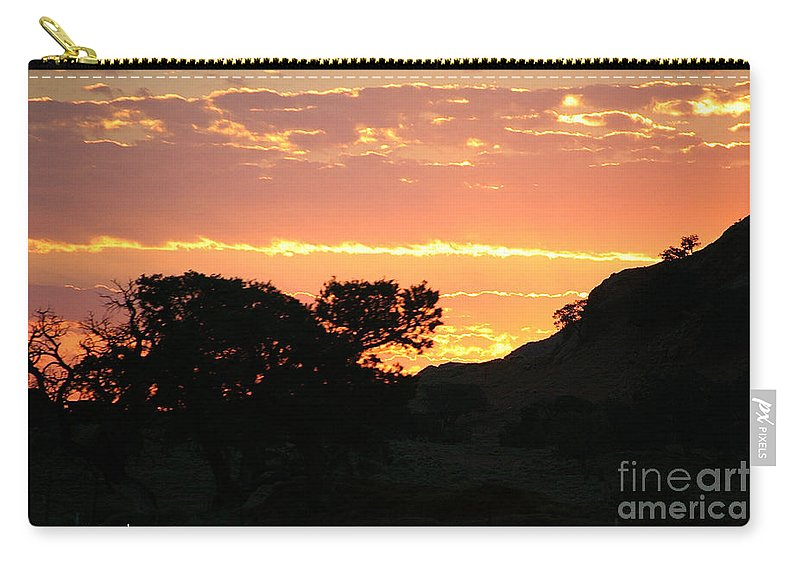 Outdoors Carry-all Pouch featuring the photograph Sunrise Scenery by Susan Herber