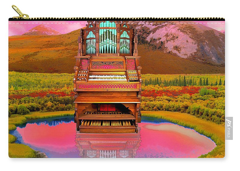 Organ Carry-all Pouch featuring the mixed media Sunrise Service by Dominic Piperata