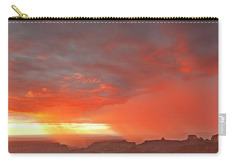 North America Carry-all Pouch featuring the photograph Sunrise Storm Point Imperial North Rim Grand Canyon Np Arizona by Dave Welling