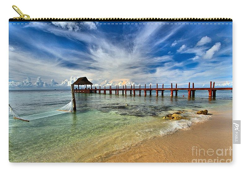 Caribbean Ocean Carry-all Pouch featuring the photograph Sunscape Sabor Pier by Adam Jewell