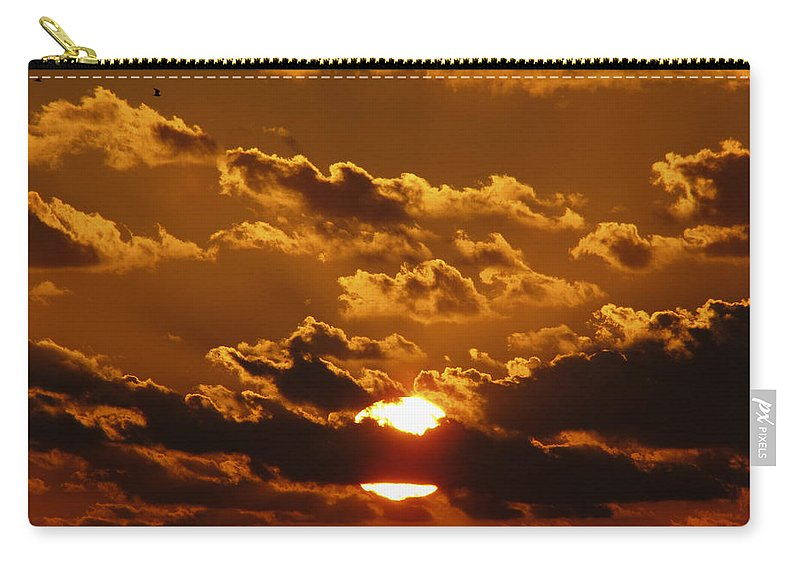 Sunset Carry-all Pouch featuring the photograph Sunset 5 by Bob Slitzan