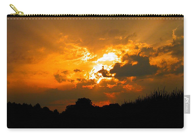 Sun Carry-all Pouch featuring the photograph Sunset Angel by Nick Kirby