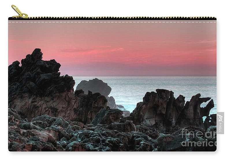 Sunset Carry-all Pouch featuring the photograph Sunset At Salt Point by Bob Christopher