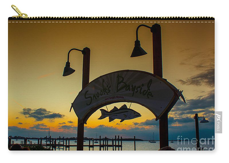 Sand Carry-all Pouch featuring the photograph Sunset At Snooks Bayside by Rene Triay Photography