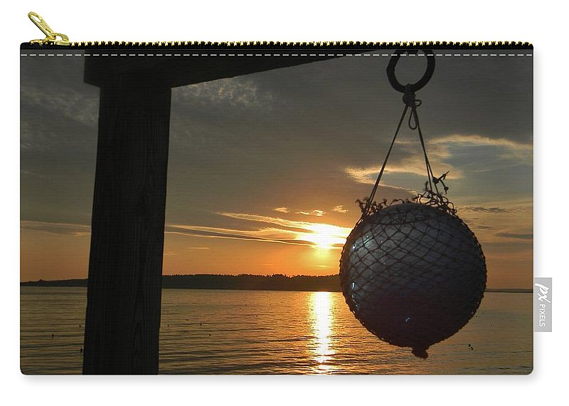 Sunset Carry-all Pouch featuring the photograph Sunset At The Pier by Jean Goodwin Brooks