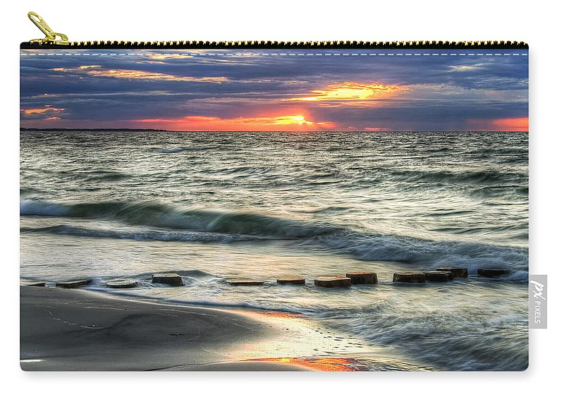 Carry-all Pouch featuring the pyrography Sunset Beach by Steffen Gierok
