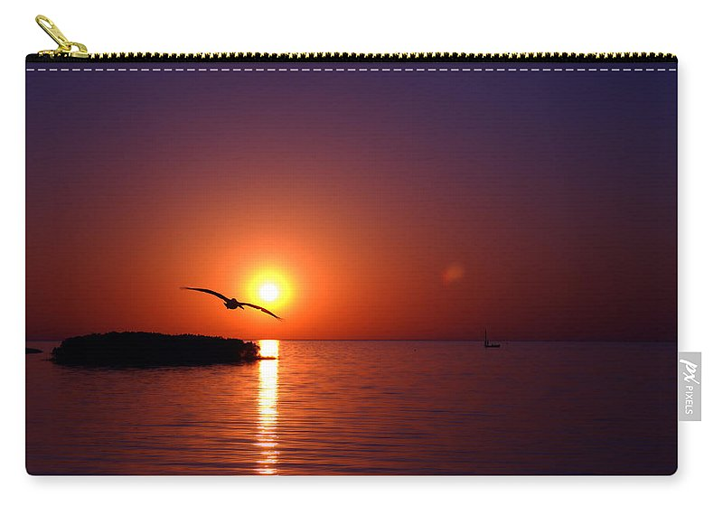 Bird Carry-all Pouch featuring the photograph Sunset Blue by Beverly Stapleton