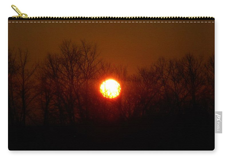 Skyline Carry-all Pouch featuring the photograph Sunset Blur by Coleen Harty
