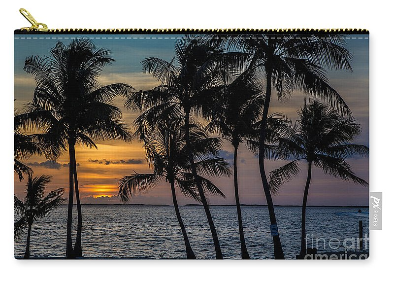 Sunset Carry-all Pouch featuring the photograph Sunset Breeze by Rene Triay Photography