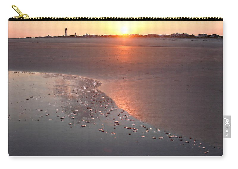 Sullivan's Island Carry-all Pouch featuring the photograph Sunset By Jan Marvin by Jan Marvin