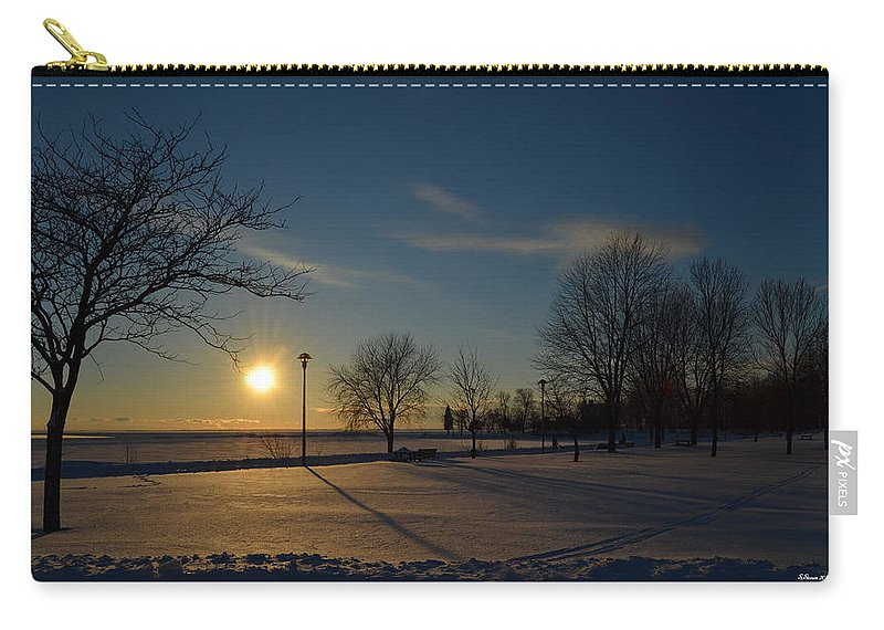 Lake Carry-all Pouch featuring the photograph Sunset By The Lake by Steve Stones