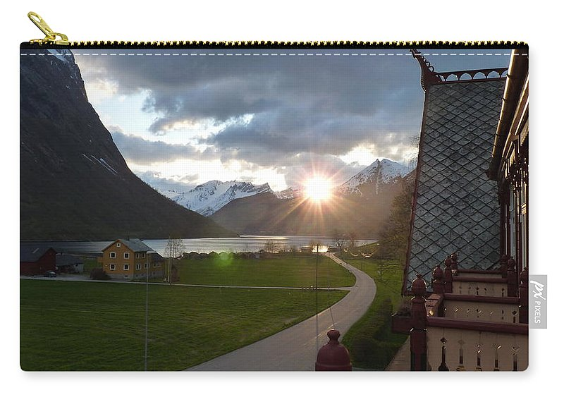 Carry-all Pouch featuring the photograph Sunset From Above by Katerina Naumenko