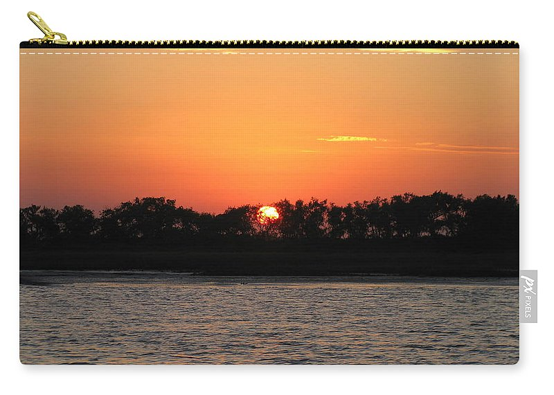 Landscape Carry-all Pouch featuring the photograph Sunset Glow by Ellen Meakin