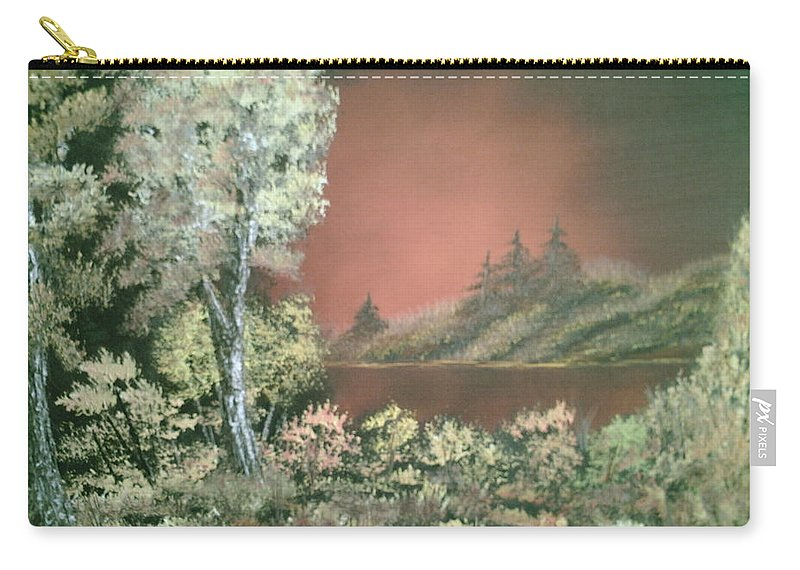 Landscape Carry-all Pouch featuring the painting Sunset Glow by Jim Saltis