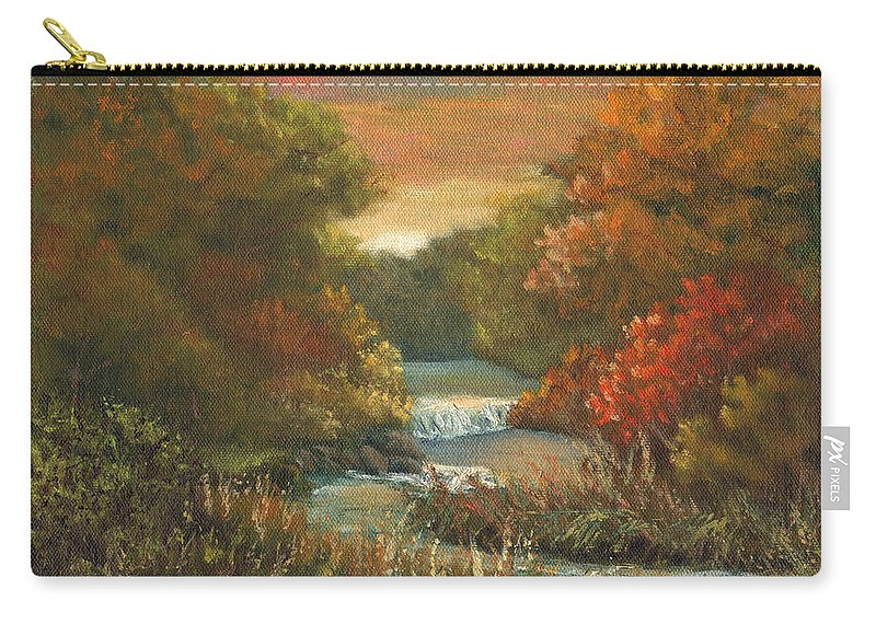 Sunset Carry-all Pouch featuring the painting Sunset Glow by Sharon E Allen
