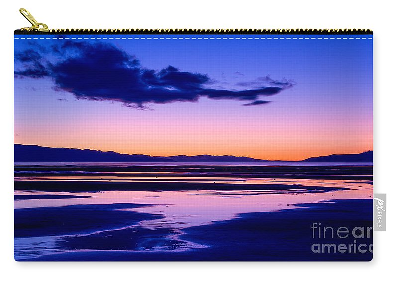 Sunset Carry-all Pouch featuring the photograph Sunset Great Salt Lake - Utah by Gary Whitton
