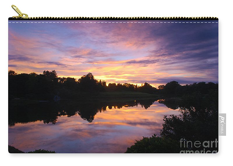 Sunset Carry-all Pouch featuring the photograph Sunset II At Japanese Garden by Nancy Mueller