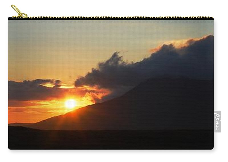 Sunset Carry-all Pouch featuring the photograph Sunset In Galway by Charlie and Norma Brock