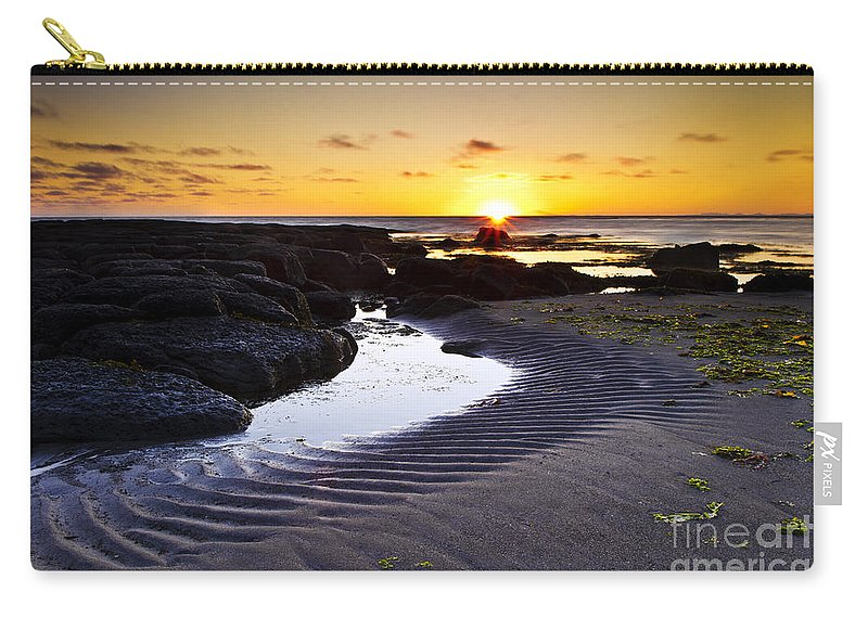 Sunset Carry-all Pouch featuring the photograph Sunset In Iceland by Gunnar Orn Arnason