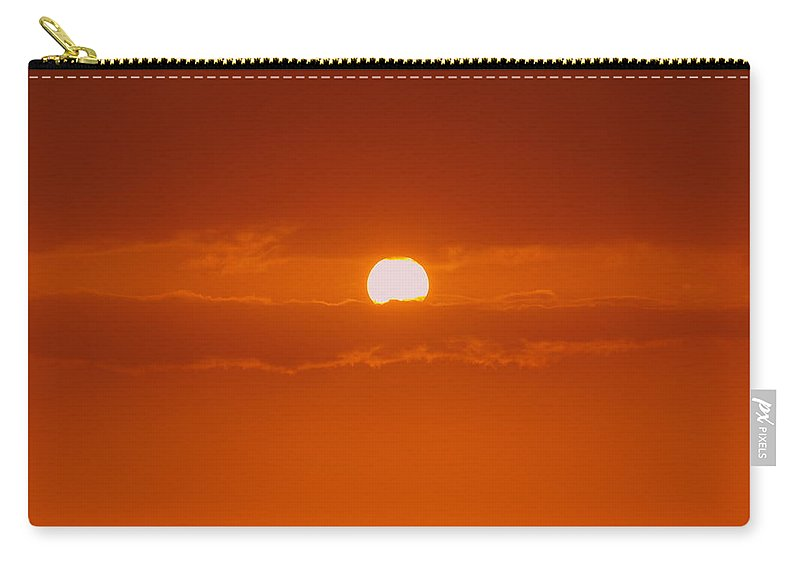 Sun Rise Carry-all Pouch featuring the photograph Sunset In Kona by Athala Carole Bruckner