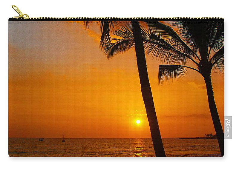 Sunset Carry-all Pouch featuring the photograph Sunset In Paradise by Athala Carole Bruckner