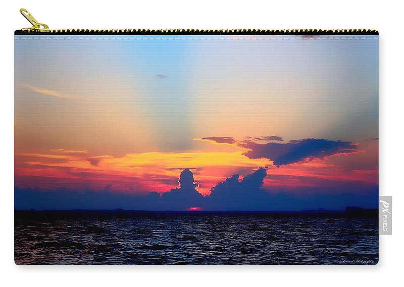 Sunset Carry-all Pouch featuring the photograph Sunset In Paradise by Debra Forand
