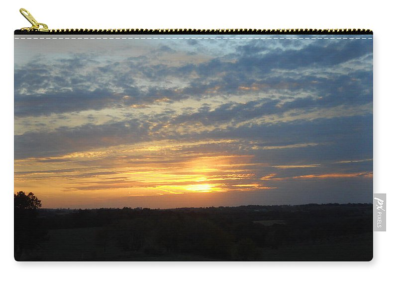 Sunset Carry-all Pouch featuring the photograph Sunset In The Distance by Coleen Harty
