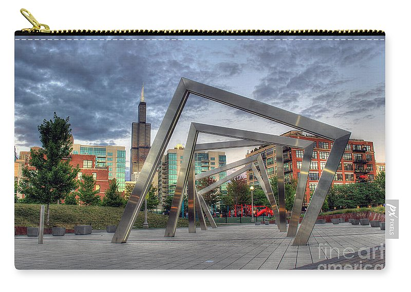 Canon Carry-all Pouch featuring the photograph Sunset In The Park by Steven K Sembach
