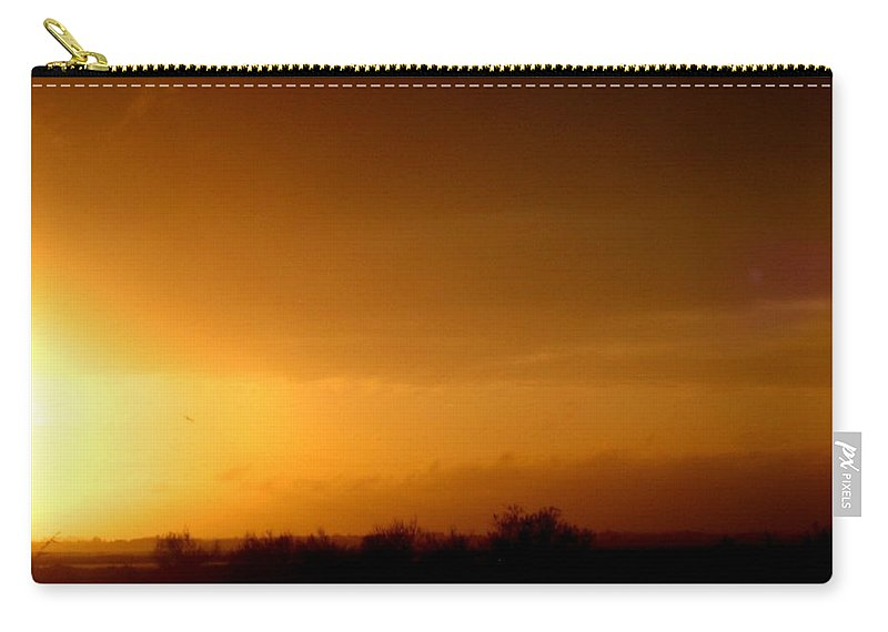 Photograph Carry-all Pouch featuring the photograph Sunset In The South Of France by Cristina Stefan