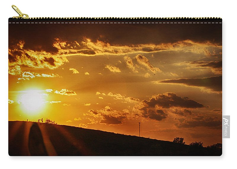 Sunset Carry-all Pouch featuring the photograph Sunset In Vernon County by Tommy Anderson
