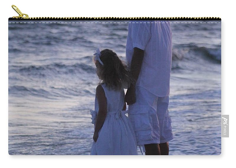 Beach Scene Carry-all Pouch featuring the photograph Sunset Kids by Michelle Powell