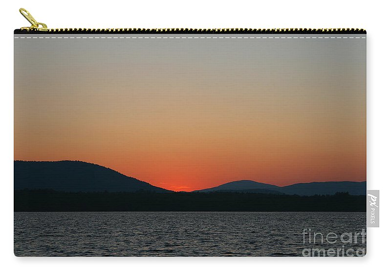 Sunset Carry-all Pouch featuring the photograph Sunset Lines Of Lake Umbagog by Neal Eslinger