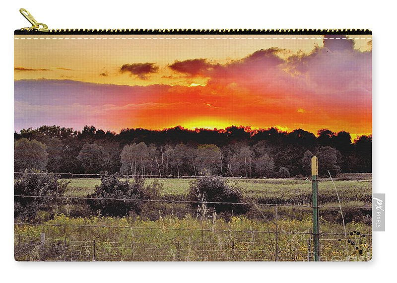 Sunset Sky Carry-all Pouch featuring the photograph Sunset Meadow by Marilyn Smith
