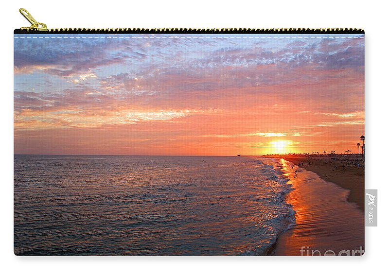 Sunset Carry-all Pouch featuring the photograph Sunset On Balboa by Kelly Holm